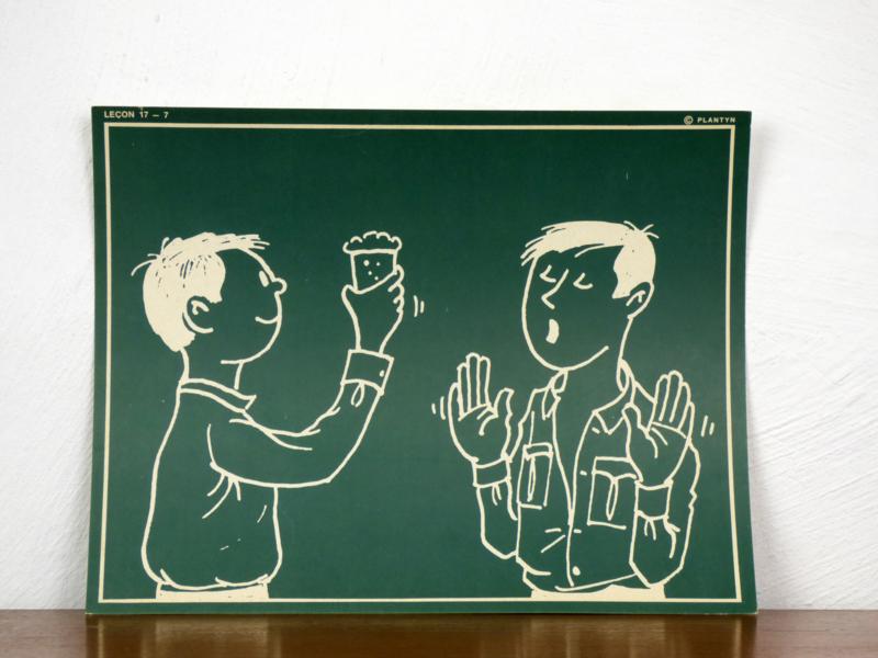 vintage schoolplaat Plantyn les 177