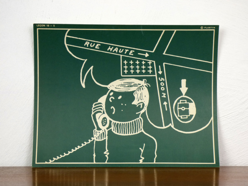 vintage schoolplaat Plantyn les 185