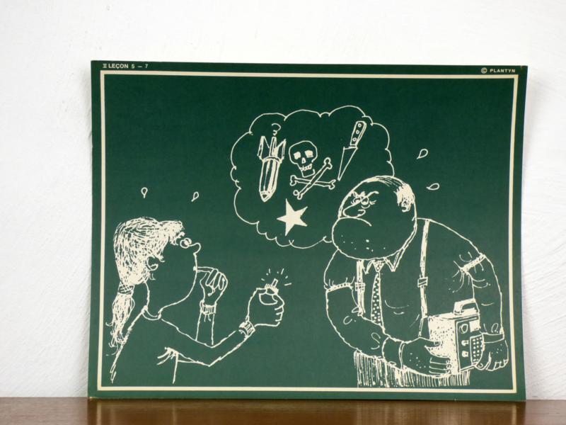 vintage schoolplaat Plantyn les II 57