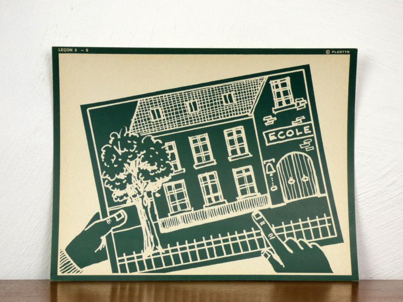 vintage schoolplaat Plantyn les 36
