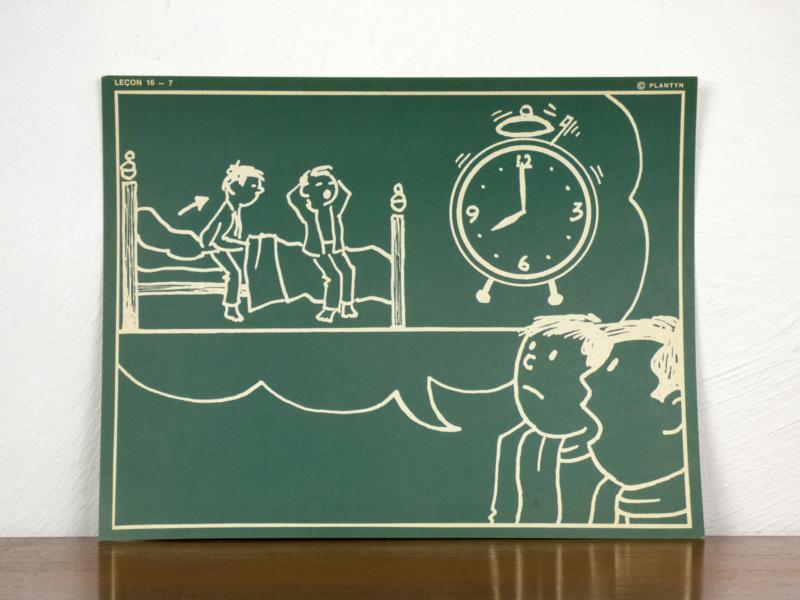 vintage schoolplaat Plantyn les 167