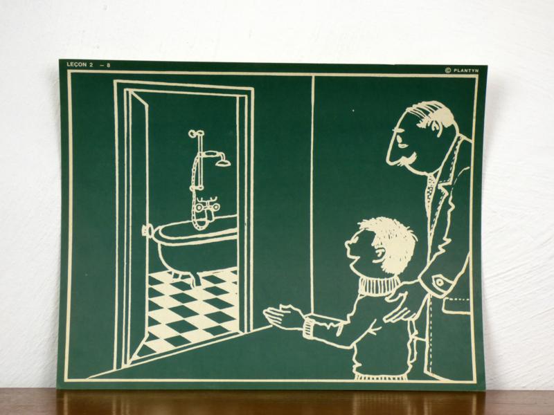 vintage schoolplaat Plantyn les 28