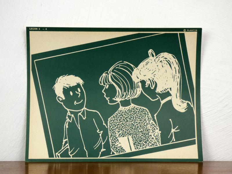 vintage schoolplaat Plantyn les 34