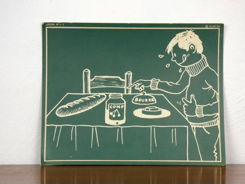 vintage schoolplaat Plantyn les 141