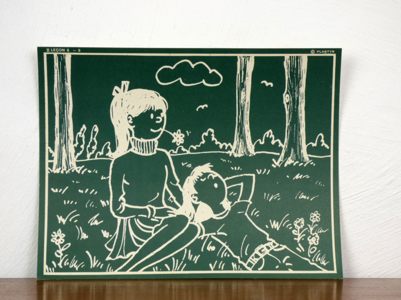 vintage schoolplaat Plantyn les II 66