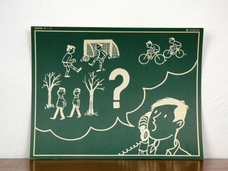 vintage schoolplaat Plantyn les 173