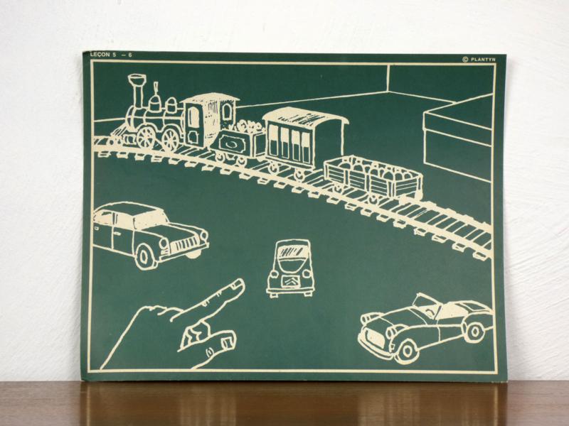 vintage schoolplaat Plantyn les 56