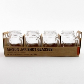 Mason Jar Shot Glas set van 4