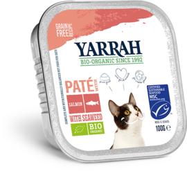 Yarrah kuipjes paté voor de kat 16 x 100 gram