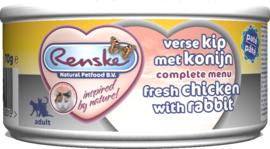 Renske Verse Kip met konijn voor de kat - blikje 70 gram