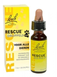 Bach Rescue Remedy Pets - druppels zonder alcohol