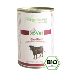 OrganicVet BIOVET - Menu Bio Rund voor de hond