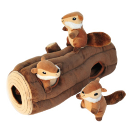 Zippypaws Burrow Log with Chipmunks XL