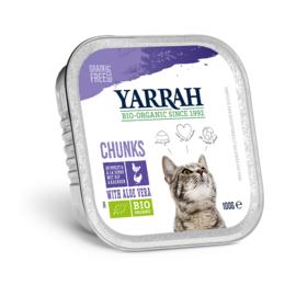 Yarrah kuipjes brokjes in saus voor de kat 16 x 100 gram