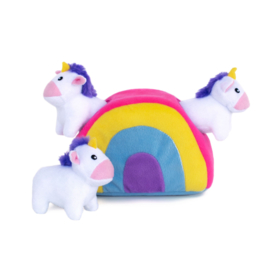 ZippyPaws Burrow Unicorn in Rainbow