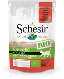 Schesir BIO Organic Adult cat Beef pouches