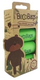 BecoBags biologisch afbreekbare poepzakjes per 4 rollen (60 stuks)
