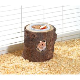 Karlie wonderland Houten nestje met voederbak