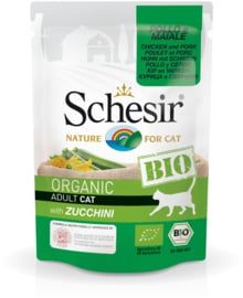 Schesir BIO Organic Cat - kip en varken met courgette