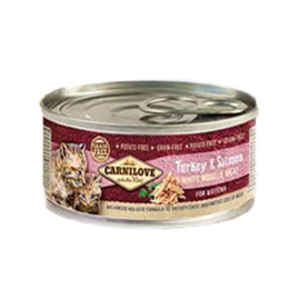 Carnilove blikvoeding  voor kittens - Kalkoen en Zalm