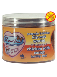 Renske kattensnoepjes - Kip met wortel