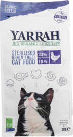Yarrah sterilised graanvrij voor de kat 2 kilo - THT 22-10-2019