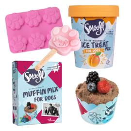 Combinatiedeal: Smoofl ijs, vormpje, muffinmix en muffinvormpjes