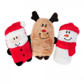 ZippyPaws Squeakie Buddy - Holiday 3-pack