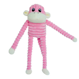 Zippypaws  Spencer the Crinkle Monkey - Small Pink