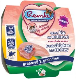 Renske Vers kat - Kip en Kalkoen 100 gram