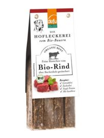 Defu Hondensnack - Riemchen Bio-Rind - Reepjes Gerookt Rundvlees