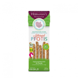 Herrmanns Pfotis - kauwsticks biologische kip met rijst