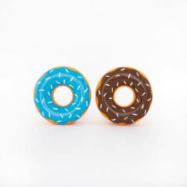 Latex Donutz 2-Pack blauw-bruin