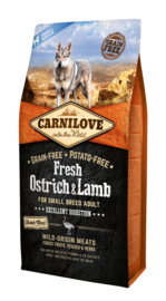 Carnilove FRESH Struisvogel en Lam 6 kilo