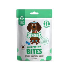 Denzel's Bites High Protein - Spinazie, Kikkererwt en Kip