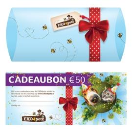 EKO4petz cadeaubon 50 euro
