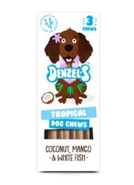 Denzel's Chews Tropical - Kokos, Mango en Witvis