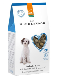 Defu Hondensnack Seelachs-Keks - Zalm met brandnetel