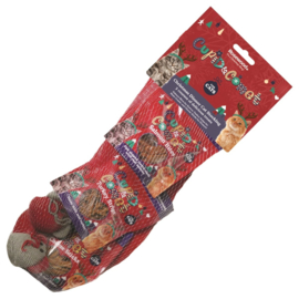 Cupid and Comet Christmas Cat Stocking