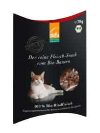 Defu Kattensnack 100% Bio-Rindfleisch -  Puur biologisch Rundvlees