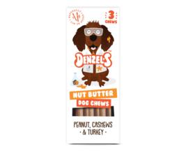 Denzel's Chews Nutbutter - Pinda, Cashew, Kalkoen