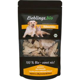 Biologische kippenlever snack - gevriesdroogd