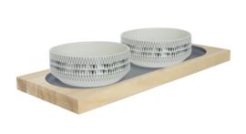 51DN Stoneware Sipura Dinnerbowl SET 2 bakken - triangle