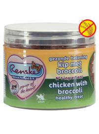 Renske kattensnoepjes - Kip met broccoli