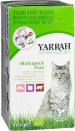 Yarrah multipack paté voor de kat  8 x 100 gram