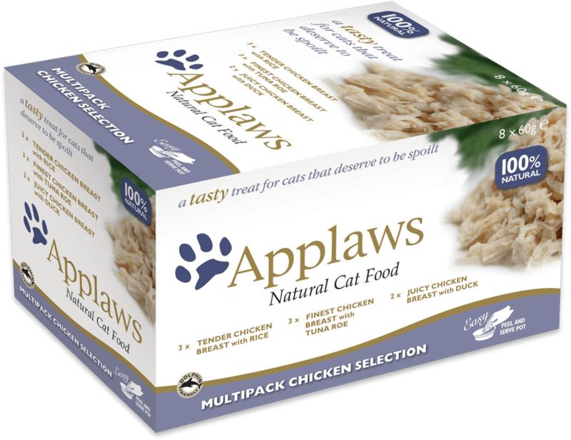Applaws Multipack Chicken Pots 8 x 60 gram - THT 9-2019