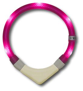 Leuchtie PLUS lichthalsband Neon roze