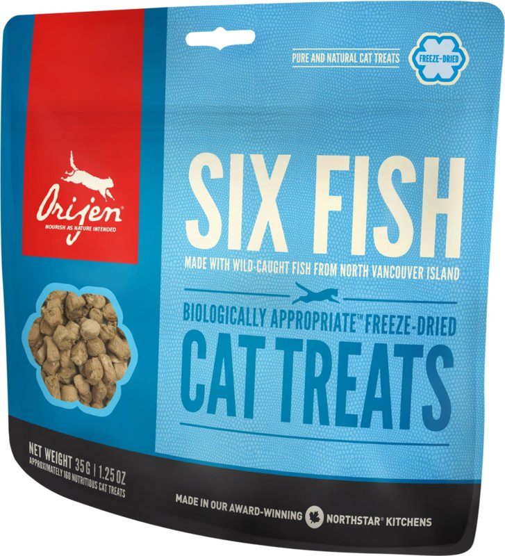 Orijen Freeze Dried Cat treats 6 Fish