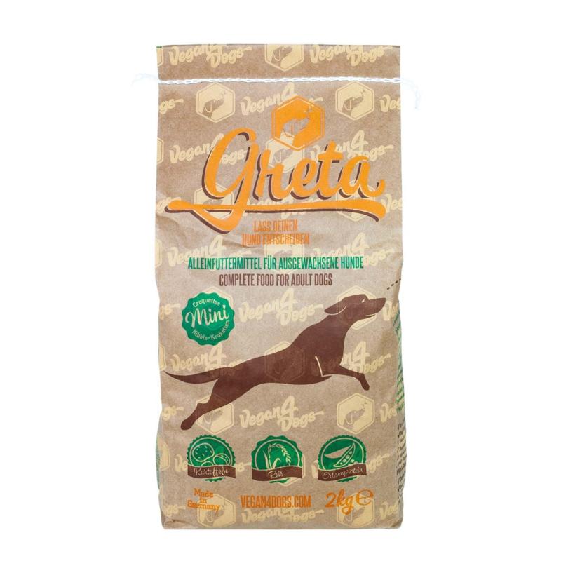 Greta vegetarische hondenbrok - Small Breed 2 kg