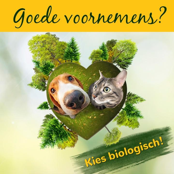 6 januari 2018 - Goede voornemens? Kies biologisch voor jouw huisdier!